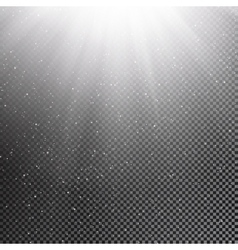 Falling snow and sun on transparent background vector image