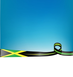 jamaica ribbon flag background vector image vector image