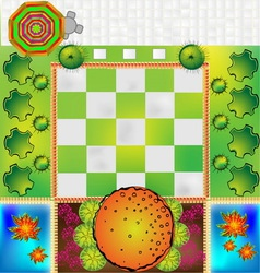 Landscape Plan with treetop symbols vector image
