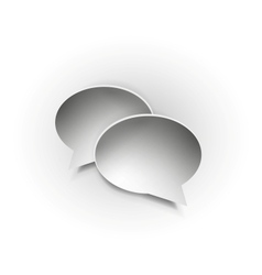 Paper speech bubble icons vector image