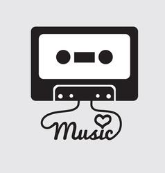 Tape Cassette vector image