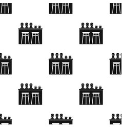 bar icon in black style isolated on white vector image