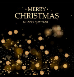 black christmas background christmas decorations vector image