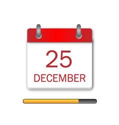 Christmas Day Calendar Icon vector image vector image
