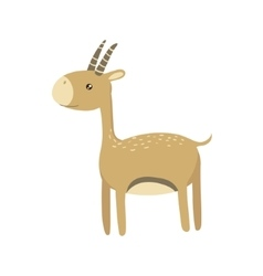 Gazelle Realistic Childish vector image