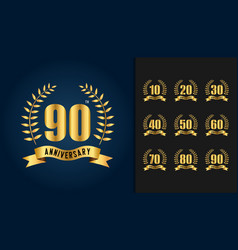 golden anniversary celebration emblem vector image