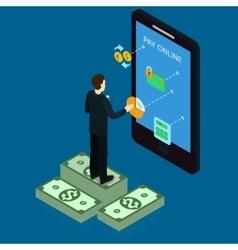 Internet Banking Isometric Design vector image