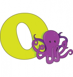 O is for octopus vector image vector image