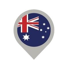 australian flag pin map location vector image