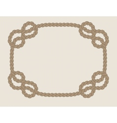 frame made from rope vector image