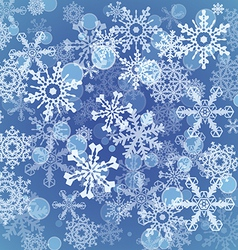 Snowflakes icon set collection shapes vector image vector image