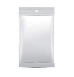 white blank foil bag packaging for food snack vector image