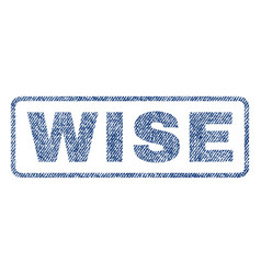 Wise textile stamp vector