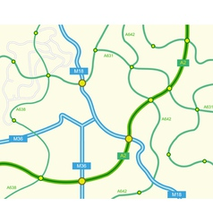 abstract road map vector image