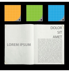 Blank pages inside of journal vector image