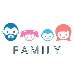 Family symbol vector image vector image