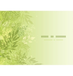 Fresh glowing spring plants horizontal background vector image