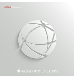 Global communications icon - web background vector