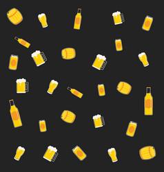 pattern beer vector image