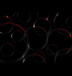 red and black contrast circles abstract background vector image