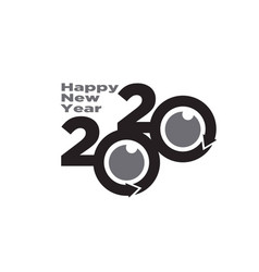 2020 happy new year logo designs vector image