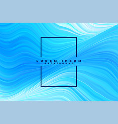 abstract blue wavy lines pattern background vector image