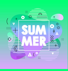 abstract summer card with green gradient vector image