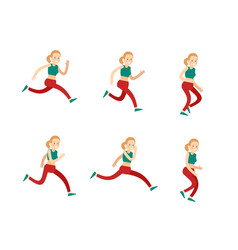 active training woman set vector image