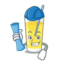 architect lemonade character cartoon style vector image