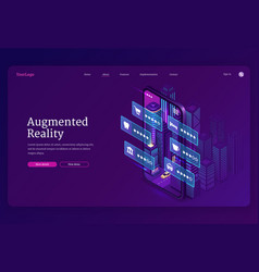 Augmented reality technologies banner vector