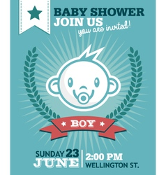 Baboy shower invitation vector