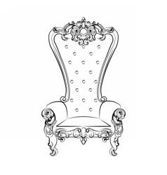 Baroque royal armchair vector