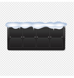 Black counter with snow transparent background vector