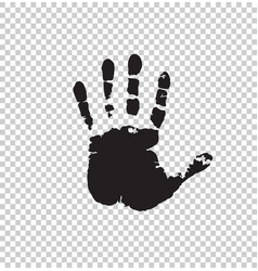 Black silhouette of human hand print isolated vector