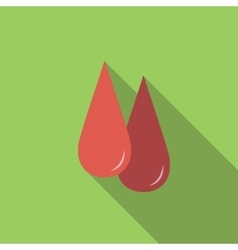 Blood flat icon vector image vector image
