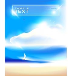 Blue sky and beach background art vector