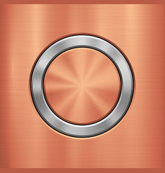 Bronze metal technology background vector