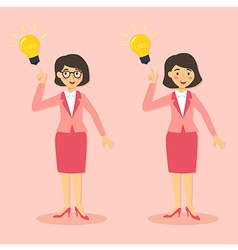 Businesswomen Get Idea vector