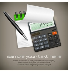 Calculator notepad vector