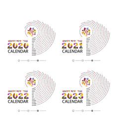 Calendar 2020 20212022 and 2023 calendar vector