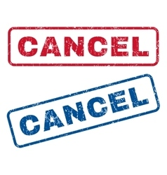 Cancel Rubber Stamps vector image