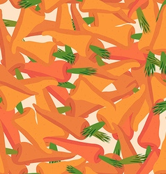 Carrot pattern Seamless background with orange vector image