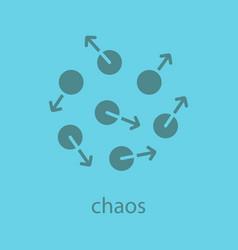 chaos glyph color icon vector image
