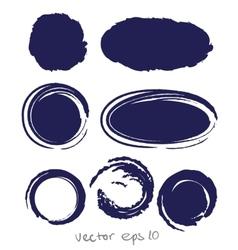 Circle ink drop set vector image