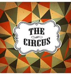 circus diamond pattern vector image