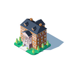 City residential building vector