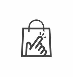 click shop logo icon design vector image