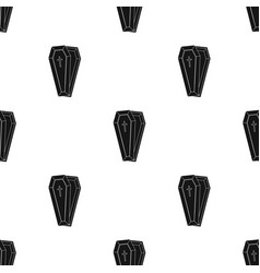 Coffin icon in black style isolated on white vector