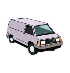Commercial vehicle delivery van cargo transport vector