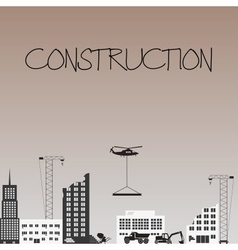 Construction zone industrial design with buldings vector